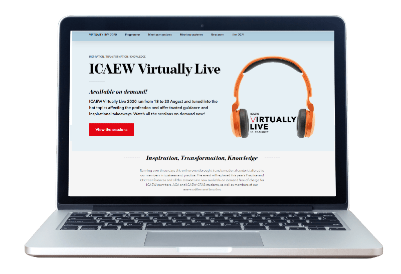 ICAEW's flagship events in 2021